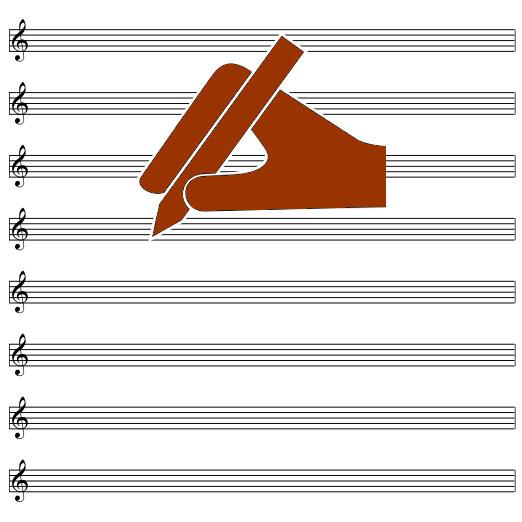 Pentagramma Vuoto Bianco Online Per Scrivere Musica Foglio A4